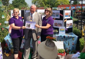 'The Seaside Garden' received a Silver Award at Guildford in Bloom, presented by the Mayor of Guildford